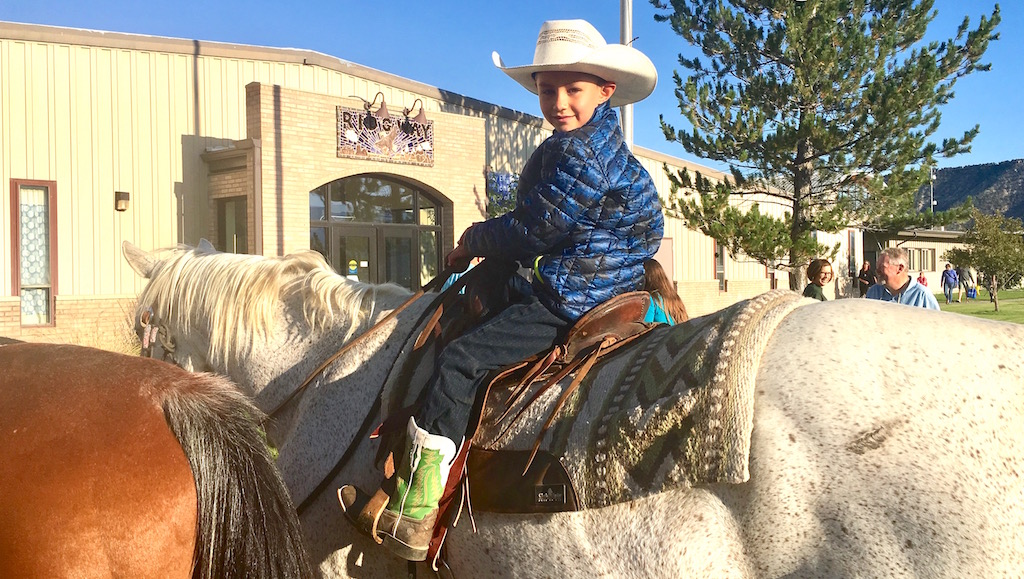 Almost Rodeo Time! Students Arrive At Ridgway's First Day Of School By Horseback